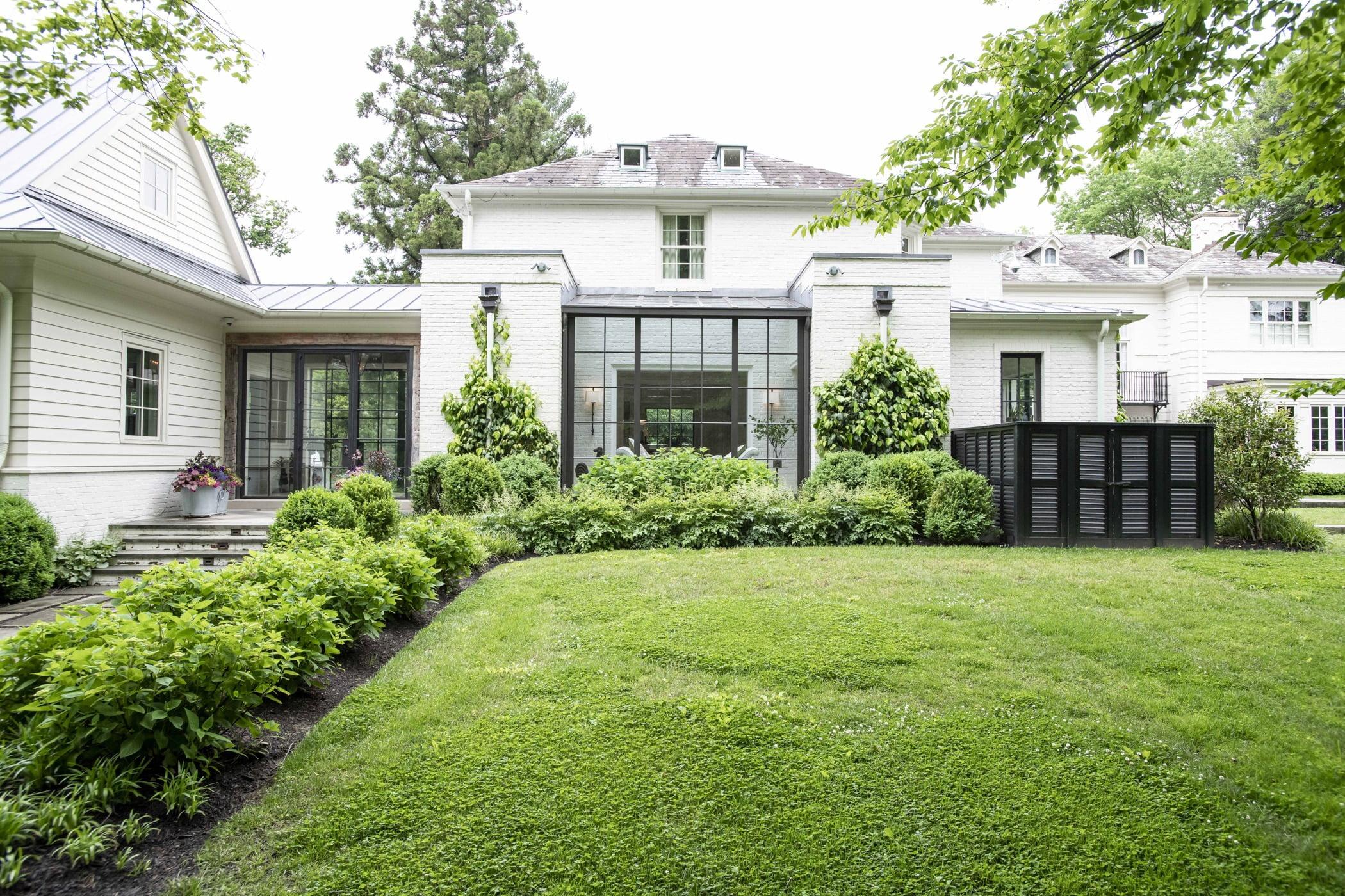 Shattuck house backyard greenery
