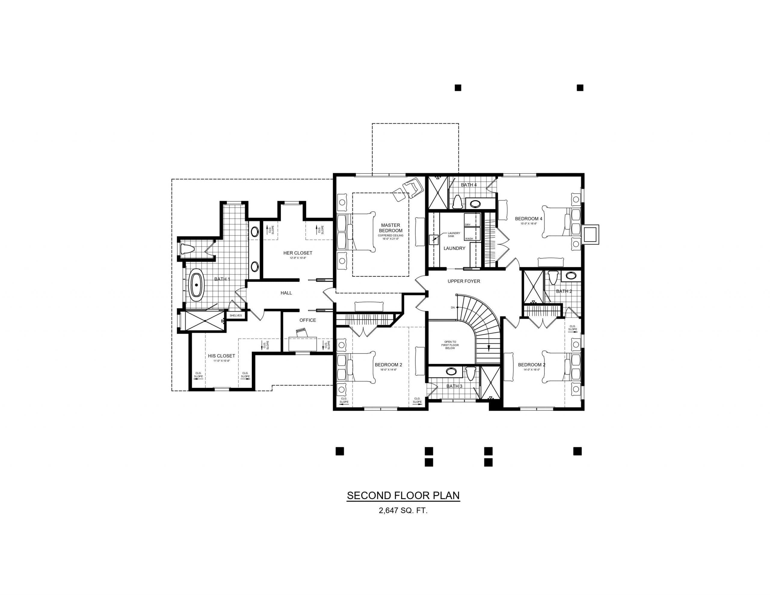 5 Wyndam Court - Second floor plan