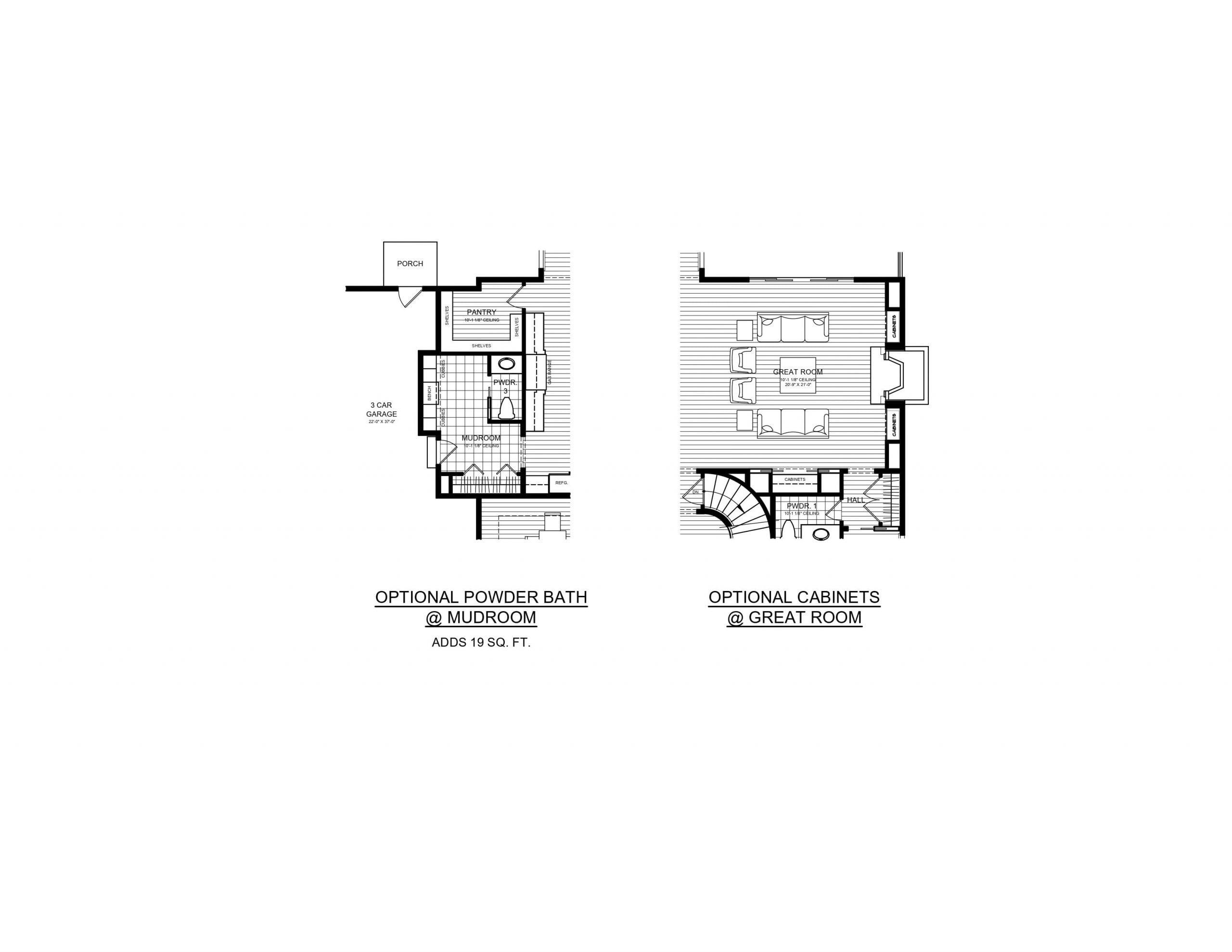 5 Wyndam Court - Optional powder bath and cabinets detail
