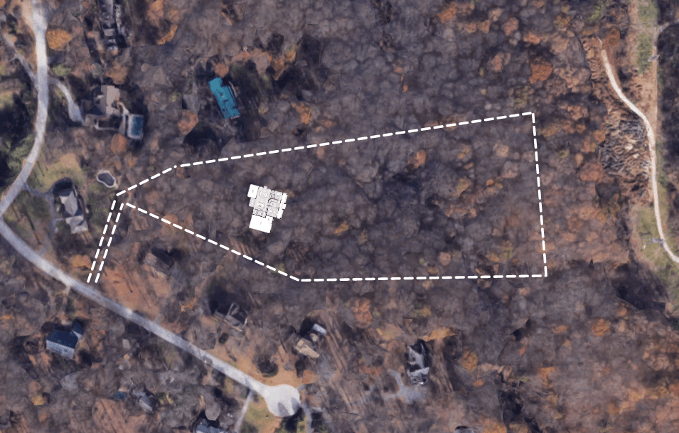 5 Wyndam Court site map (Zoomed in)