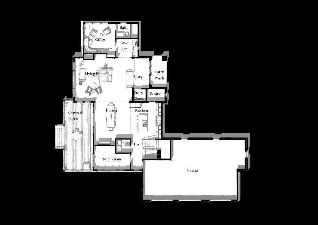 5 Wyndam Court first level 3D plan png