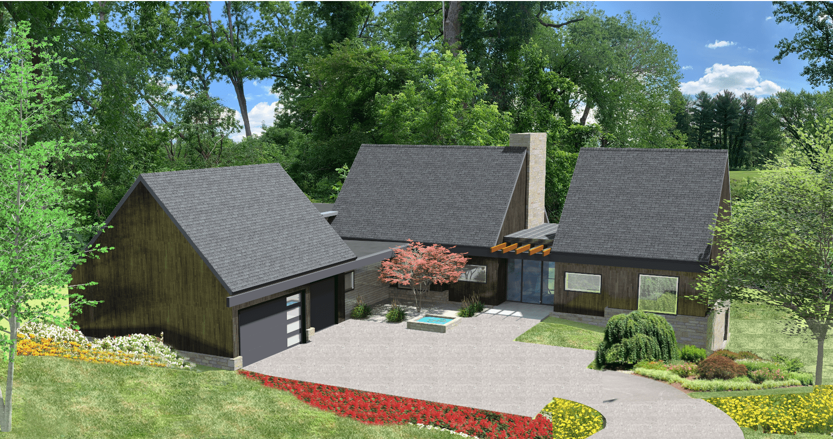 5 Wyndam Court - 3D rendering of front view