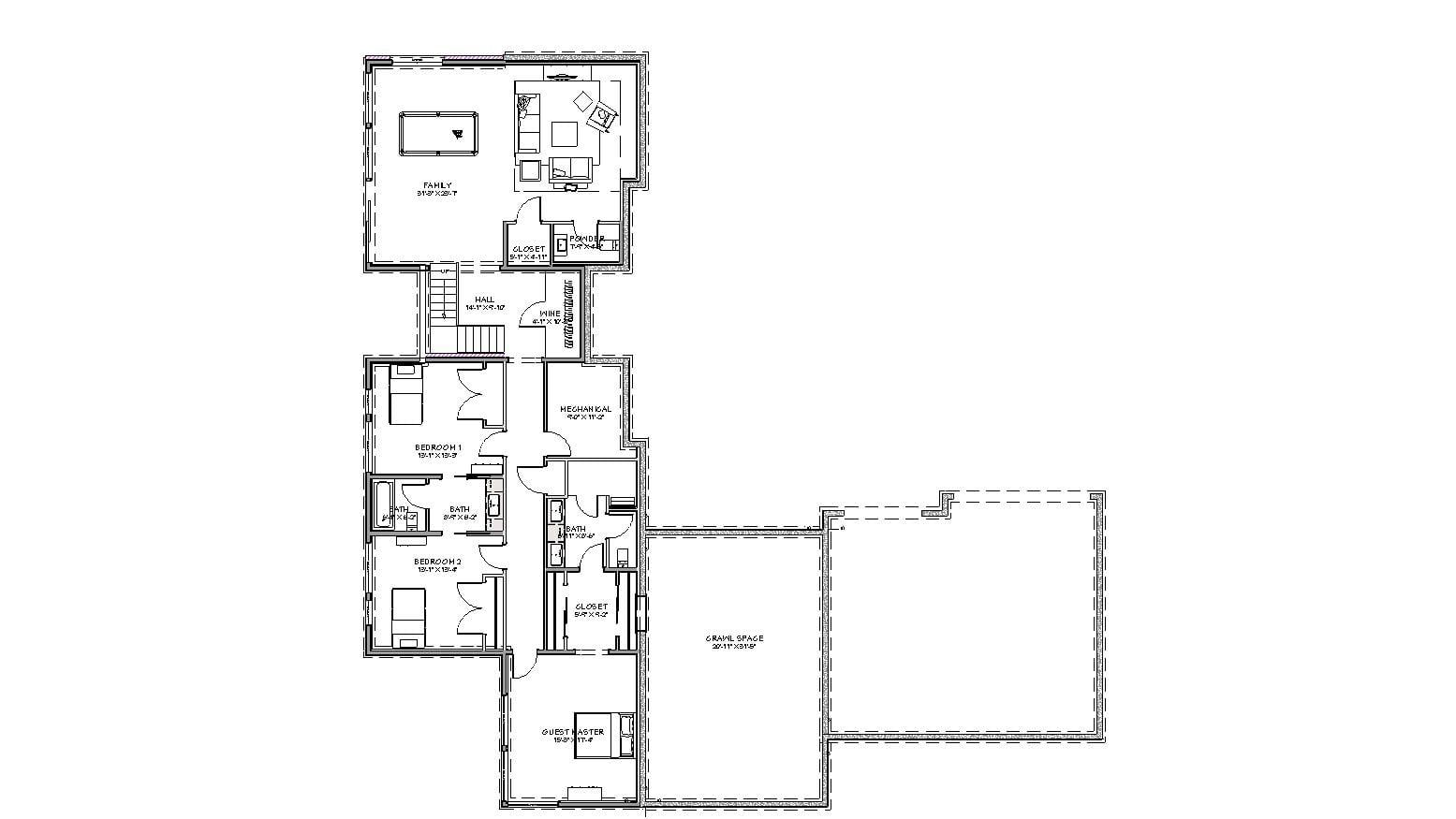 5 Wyndam Court lower level floorplan