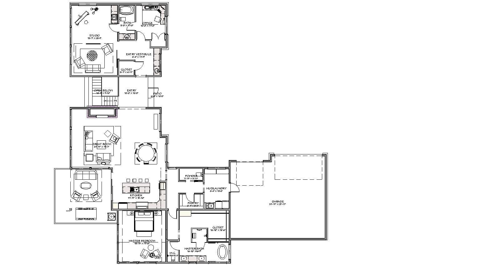 5 Wyndam Court main level floorplan