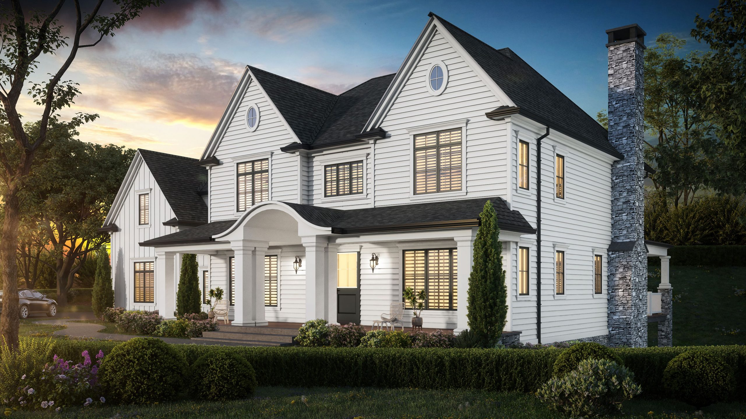 5 Wyndam Court - 3D model high resolution rendering front view (Different angle)