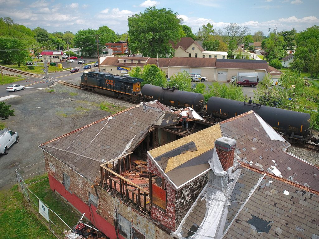 Historic Restoration of the Aberdeen Station underway! Photo courtesy of Kilby Imaging