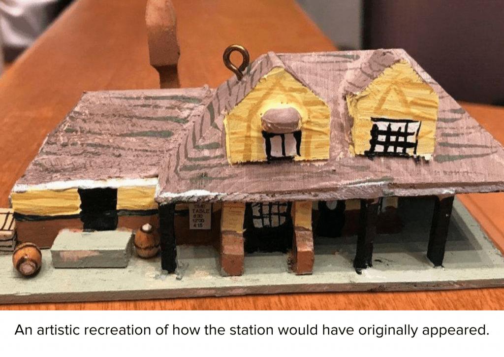 Artist model of Aberdeen Station as it was originally built