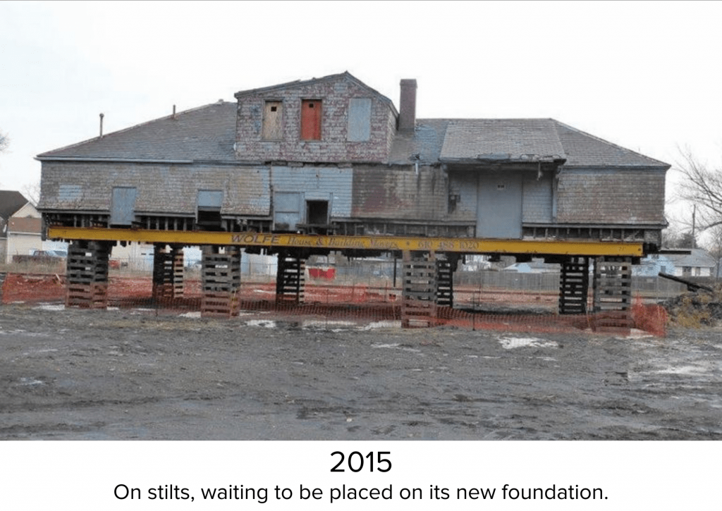 Aberdeen Station in 2015 - On stilts, waiting for new foundation